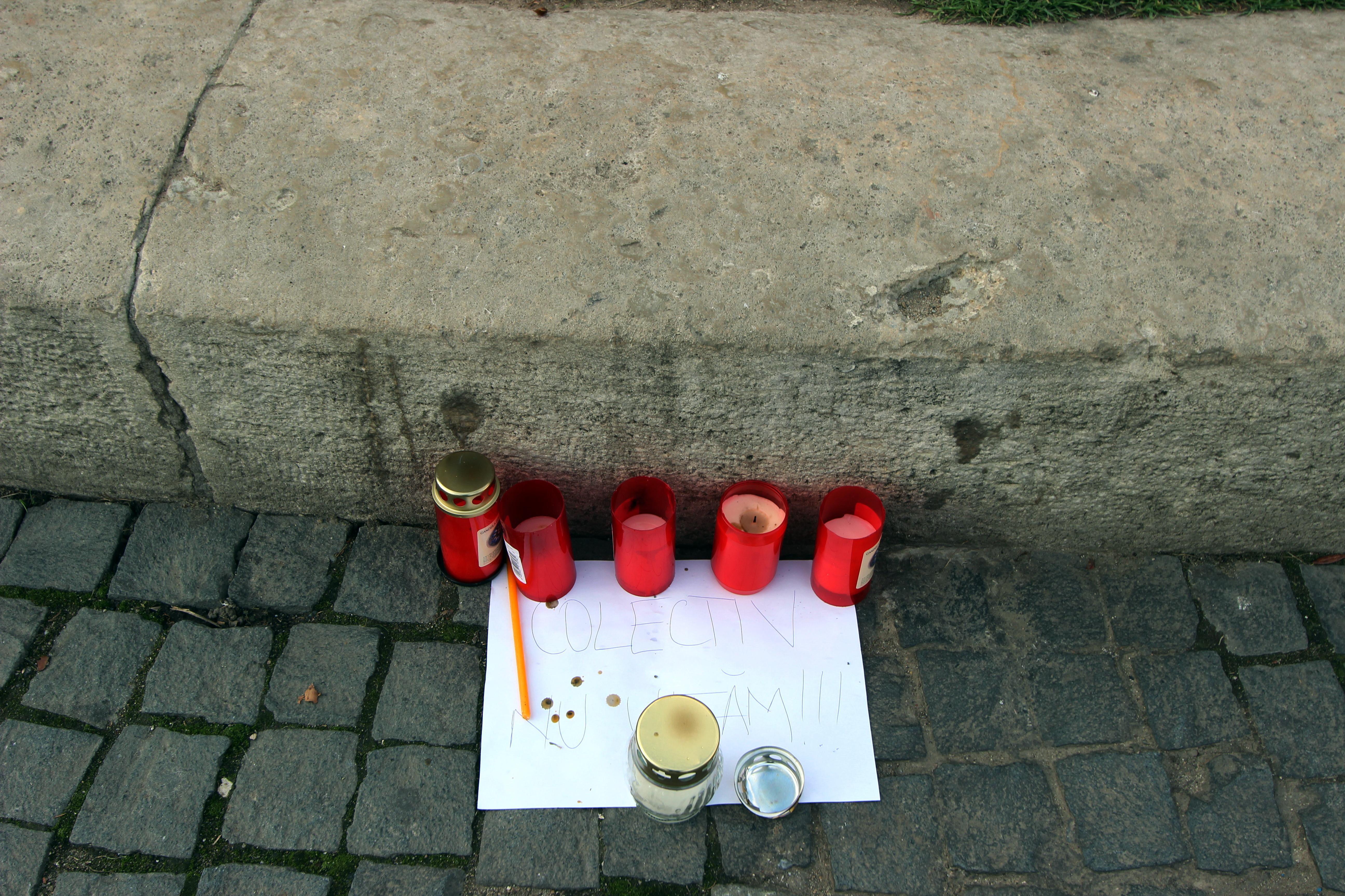 Piața Uniri din Cluj-Napoca,   un an de la Colectiv / Foto: Dan Bodea