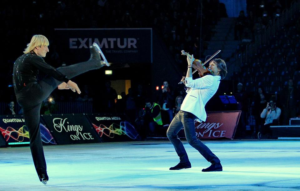 Evgeni Plushenko și Edvin Marton/ Foto: Dan Bodea