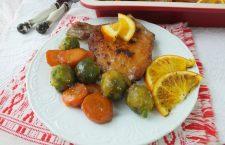 Cotlet de porc cu portocale și legume