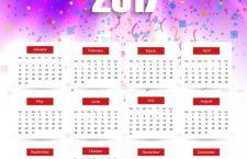 14 zile libere în 2017, calendarul sărbătorilor legale