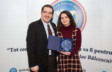 Psiholog Mihai Copaceanu și Cristina Bleorţu în cadrul Galei Ligii Studenților Români din Străinătate/ Foto: Silviu Pal