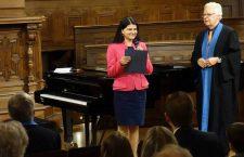 Dr. Petruța Tătulescu, fotografie din timpul  acordării oficiale a titlului de Dr. la Universitatea din Heidelberg, Germania / Foto: arhiva personală