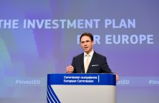 Jyrki Katainen at the podium