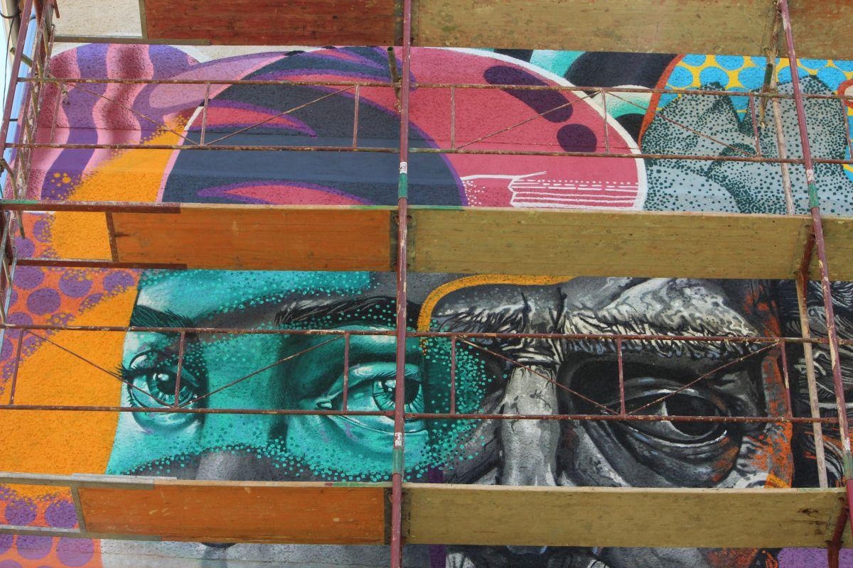 Detaliu lucrare artiști Kaps Crew/Foto: Cristina Beligăr