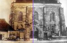 Portalul din fața Bisericii Sf. Mihail, mutat acum în fața Bisericii Sf. Petru din Mărăști