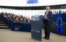 Jean-Claude Juncker în timpul discursului rostit în fața Parlamentului European | Foto: Etienne Ansotte © Uniunea Europeană