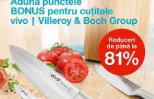 Gama de cuţite vivo – Villeroy & Boch Group, prezentă în toate magazinele Mega Image din Cluj-Napoca, cu discount-uri de până la 81% (P)