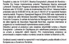BISERICA EVANGHELICĂ LUTHERANĂ DIN ROMÂNIA – PAROHIA CLUJ ÎNCEPE IMPLEMENTAREA PROIECTULUI DE REABILITARE A BISERICII EVANGHELICE-LUTHERANE DIN CLUJ-NAPOCA