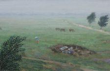 Imagine: Șerban Savu, The Fridge, 49,5 x 25 cm, oil/canvas, 2017. Lucrare creată special pentru licitația caritabilă.