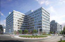 Proiectul Westend Plazza, clădirea de birouri aflată în construcție pe care Bratislava o propune ca sediu pentru EMA din 2019 | Foto: jtre.sk