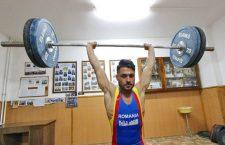 Copie la indigo. Ilie Ciotoiu a câștigat două medalii de bronz la CE de haltere de la Izvorani, la aceleași stiluri, aruncat și total, la fel ca la CE de la Split 2017 / Foto: Dan Bodea
