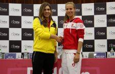 Simona Halep și Viktorika Golubic vor deschide duelul dintre România și Elveția (Foto: Dan Bodea)