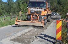 Lucrări de întreținere pe drumul județean 764B (DN 1) Valea Drăganului – Baraj Drăgan