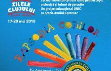 """""""Rapsodia Copiilor"""",primul concert din lume pentru copii, orchestră și tuburi de percuție, la Zilele Clujului"""