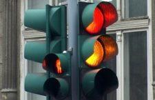 La podul Porțelanului a fost amplasat un semafor mobil