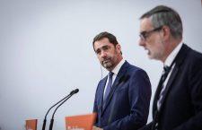 Președintele executiv al LREM, Christophe Castaner (stânga), și secretarul general al Ciudadanos, José Manuel Villegas | Foto: facebook.com/christophe.castaner