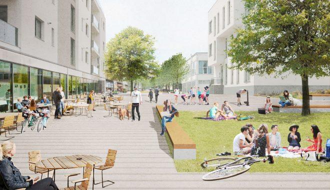 Foto main - Simulare computerizată a proiectului de revitalizare a străzii Molnar Piuariu (campus Mărăști)