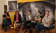 De la stânga, la dreapta: Radu Paraschivescu, Ana Blandiana, Adriana Bittel, Ioana Pârvulescu și Tudor Lucanu/Foto: Dan Bodea