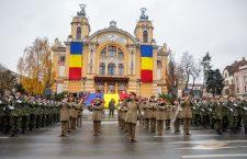 Parada militară din 1 Decembrie 2017 | Foto: Pagina de facebook Cluj 100