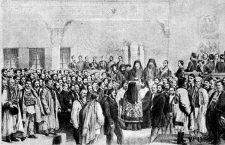 deschiderii Adunării ad-hoc din Țara Românească, litografie de Carol Popp de Szathmáry