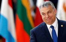 FILE PHOTO: Hungarian Prime Minister Viktor Orban arrives at the EU summit in Brussels, Belgium, March 9, 2017.   To match Special Report HUNGARY-ORBAN/BALATON    REUTERS/Francois Lenoir/File Photo - RC1BE9545E00