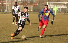 Daniel Pârvulescu a marcat primele sale goluri în tricoul Universității Cluj în victoria, scor 3-1, în deplasare, la Luceafărul Oradea. Foto: Dan Bodea