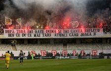 Meciul tur, disputat pe Cluj Arena, a fost urmărit de aproape 7.000 de spectatori care au creat o atmosferă cum rar se vede în prima ligă din România Foto: Dan Bodea