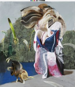 Adrian Ghenie, Figure with Dog, 2019, Courtesy Galerie Thaddaeus Ropac