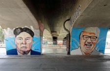 Graffiti în Viena: Donald Trump și Kim Jong-un | Foto: wikimedia.org