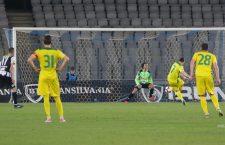 Faza cu George Florescu în poartă, la penalty-ul transformat de oaspeții de la CS Mioveni