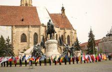 Triplă aniversare sărbătorită în Cluj-Napoca. Onoruri militare de Ziua Europei