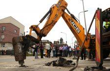 Foto | Au început lucrările de modernizare a străzii Buna Ziua. Proiectul Aquaparkului tras, deocamdată, pe linie moartă