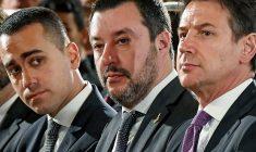 Luigi di Maio, Matteo Salvini și Giuseppe Conte