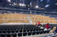Foto | A început amenajarea BT Arena în centru medical de suport pentru persoanele infectate cu coronavirus