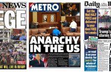 Primele pagini din întreaga lume acoperă violența din Washington DC prin prisma unui atac asupra democrației.