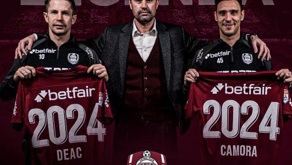 VIDEO | Mario Camora și Ciprian Deac și-au prelungit contractele cu CFR Cluj până în 2024