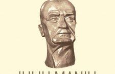 """Pe copertă: Constantin Antonovici, """"Portretul lui Iuliu Maniu"""" (sculptură în lemn)"""