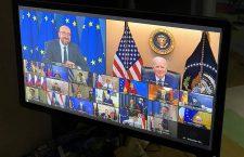 Intervenția președintelui SUA în timpul Consiliului European / Foto: Twitter @BarendLeyts