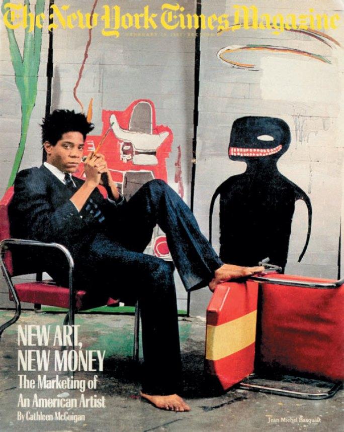 Jean-Michel Basquiat, pe coperta The New York Times Magazine