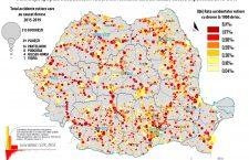 """Accidentele rutiere au un """"caracter social"""". Harta accidentelor din România"""