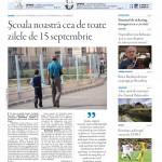"""Nu ratați noul număr Transilvania Reporter: """" Școala noastră cea de toate zilele de 15 septembrie"""""""