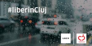 Efectele campaniei #liberincluj: curse Uber cu 50% mai ieftine în Cluj atunci când plouă
