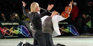 """Kings on Ice, pentru al doilea an la Cluj: 17 regi și o vioară au """"încins"""" patinoarul artificial din Sala Polivalentă"""