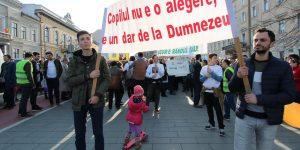 Marș ecumenic anti-avort în centrul Clujului