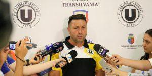 """""""U"""", fără antrenor. Popescu, demis după eșecul de la Tășnad"""