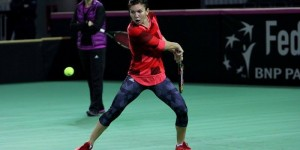Fed Cup / Simona Halep s-a antrenat la Cluj