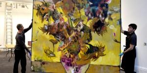 """Nou record pentru Adrian Ghenie pe piața de artă: 4 milioane de euro pentru lucrarea """"The Sunflowers in 1937"""""""
